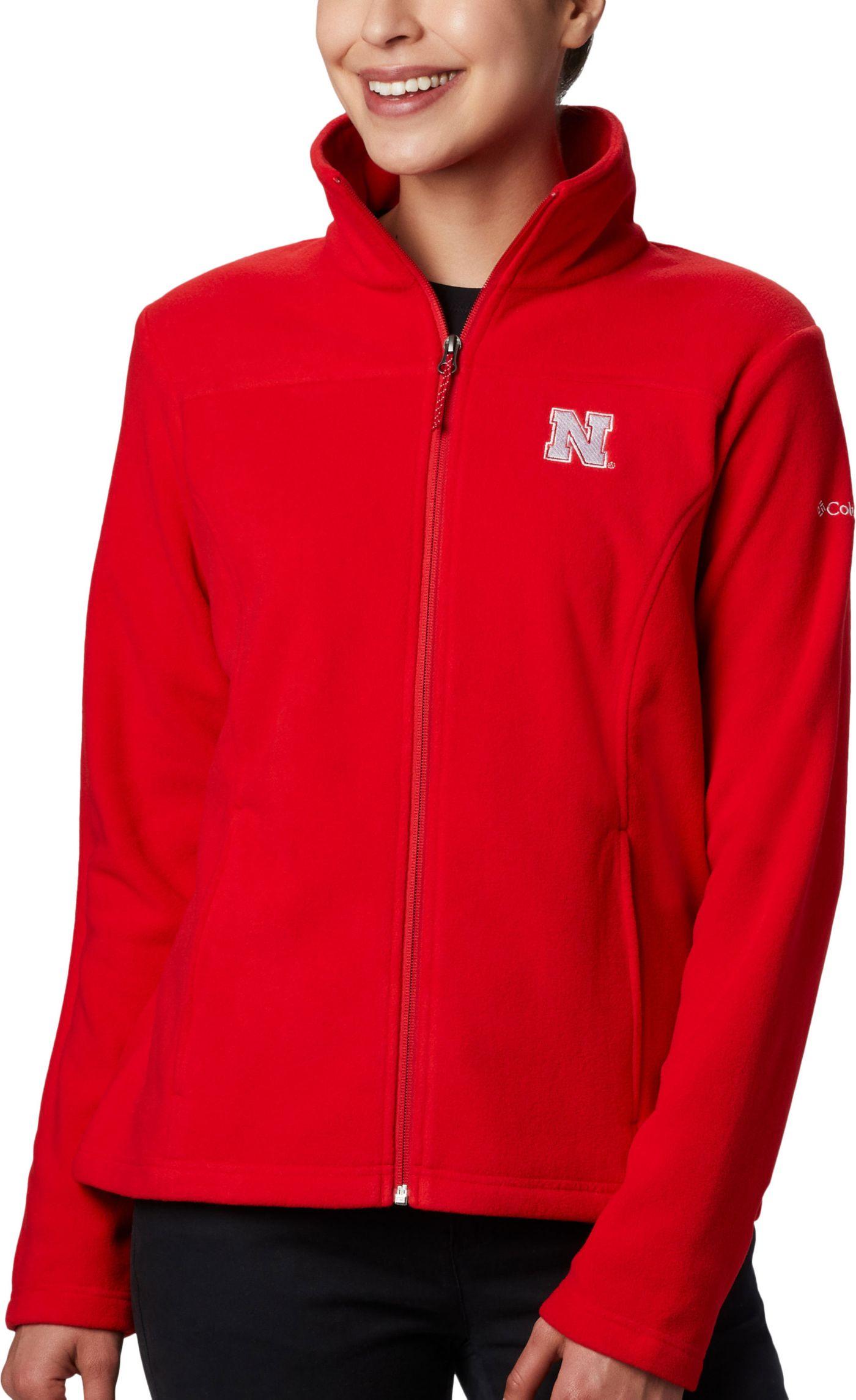 Columbia Women's Nebraska Cornhuskers Scarlet Give & Go Full-Zip Jacket