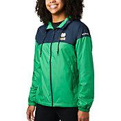 Columbia Women's Notre Dame Fighting Irish Navy/Green CLG Flash Forward Lined Jacket