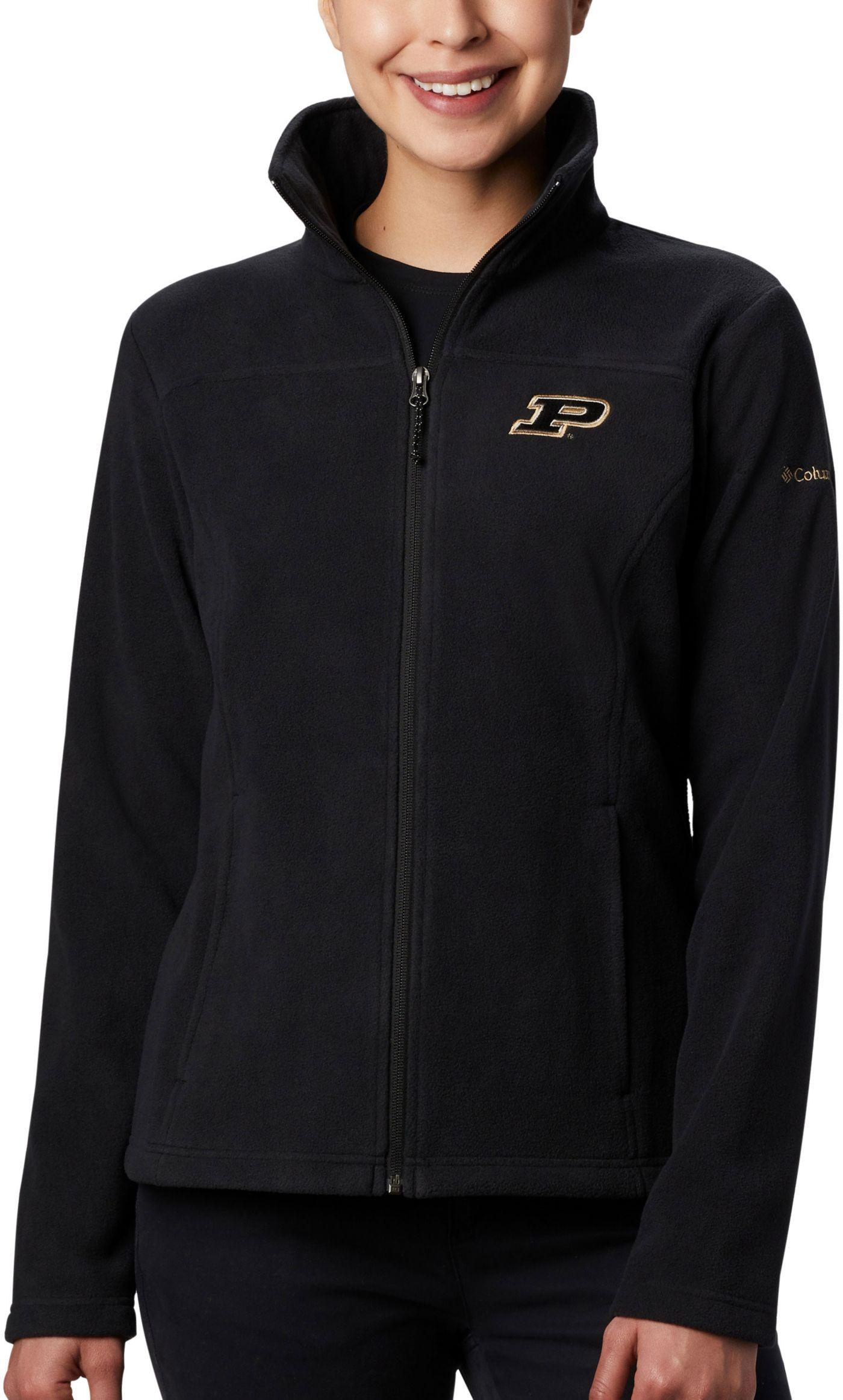 Columbia Women's Purdue Boilermakers Give & Go Full-Zip Black Jacket