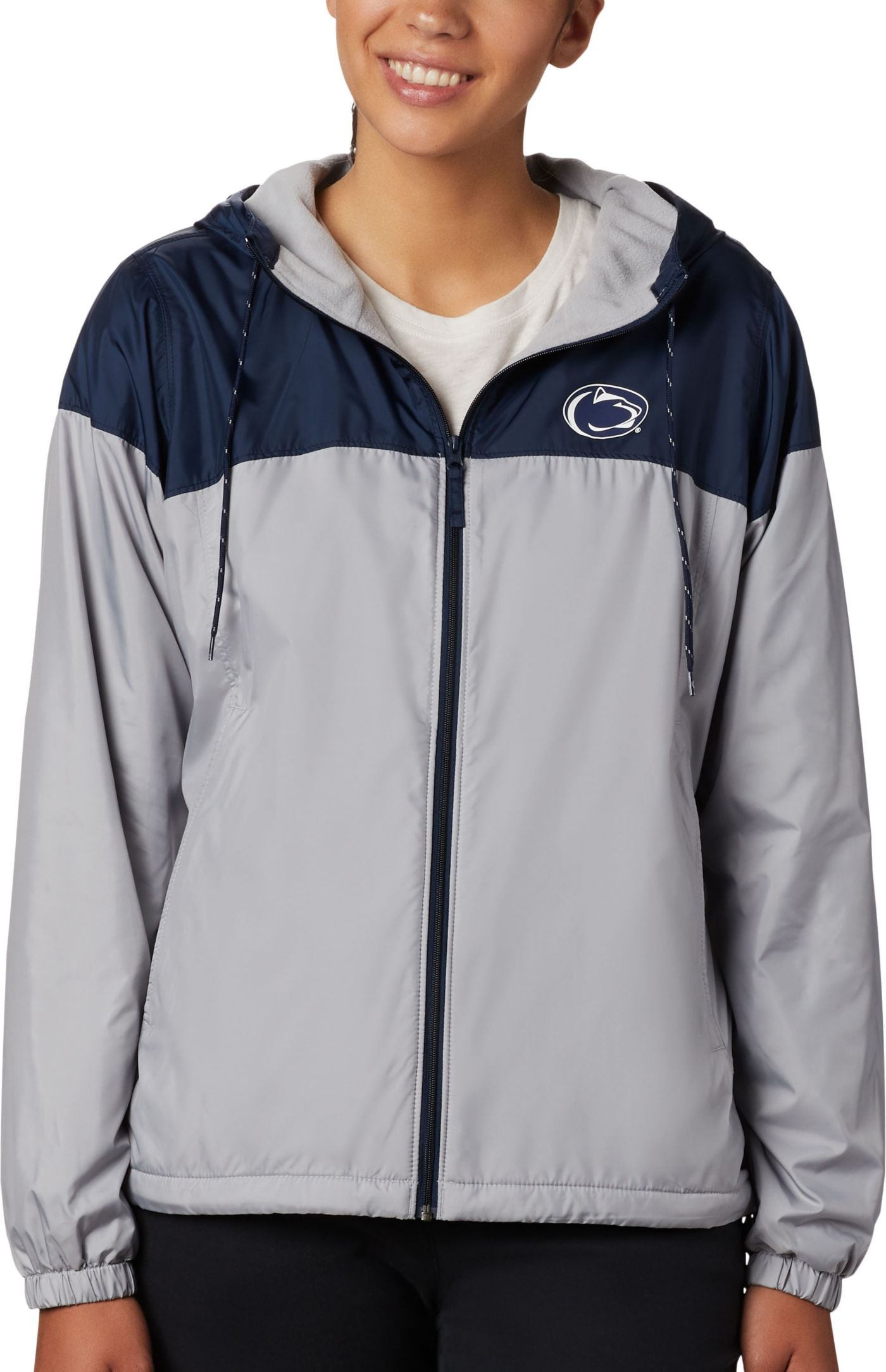 Columbia Women's Penn State Nittany Lions Blue/Grey CLG Flash Forward Lined Jacket