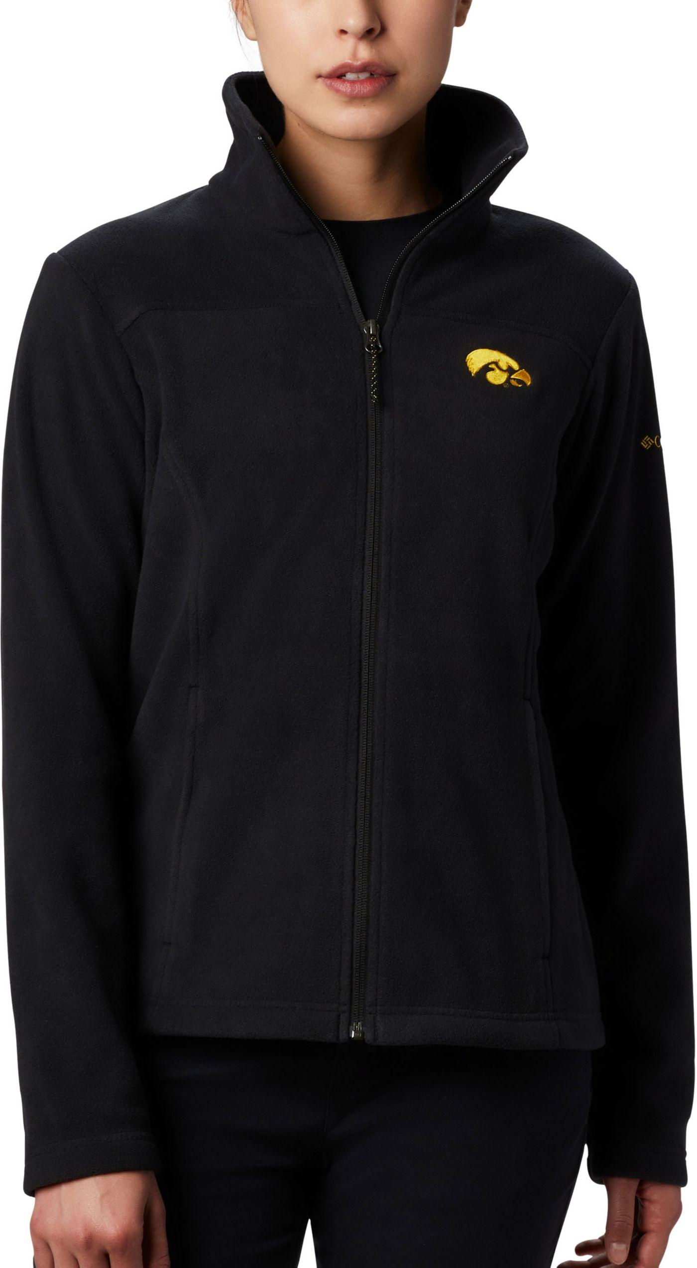 Columbia Women's Iowa Hawkeyes Give & Go Full-Zip Black Jacket
