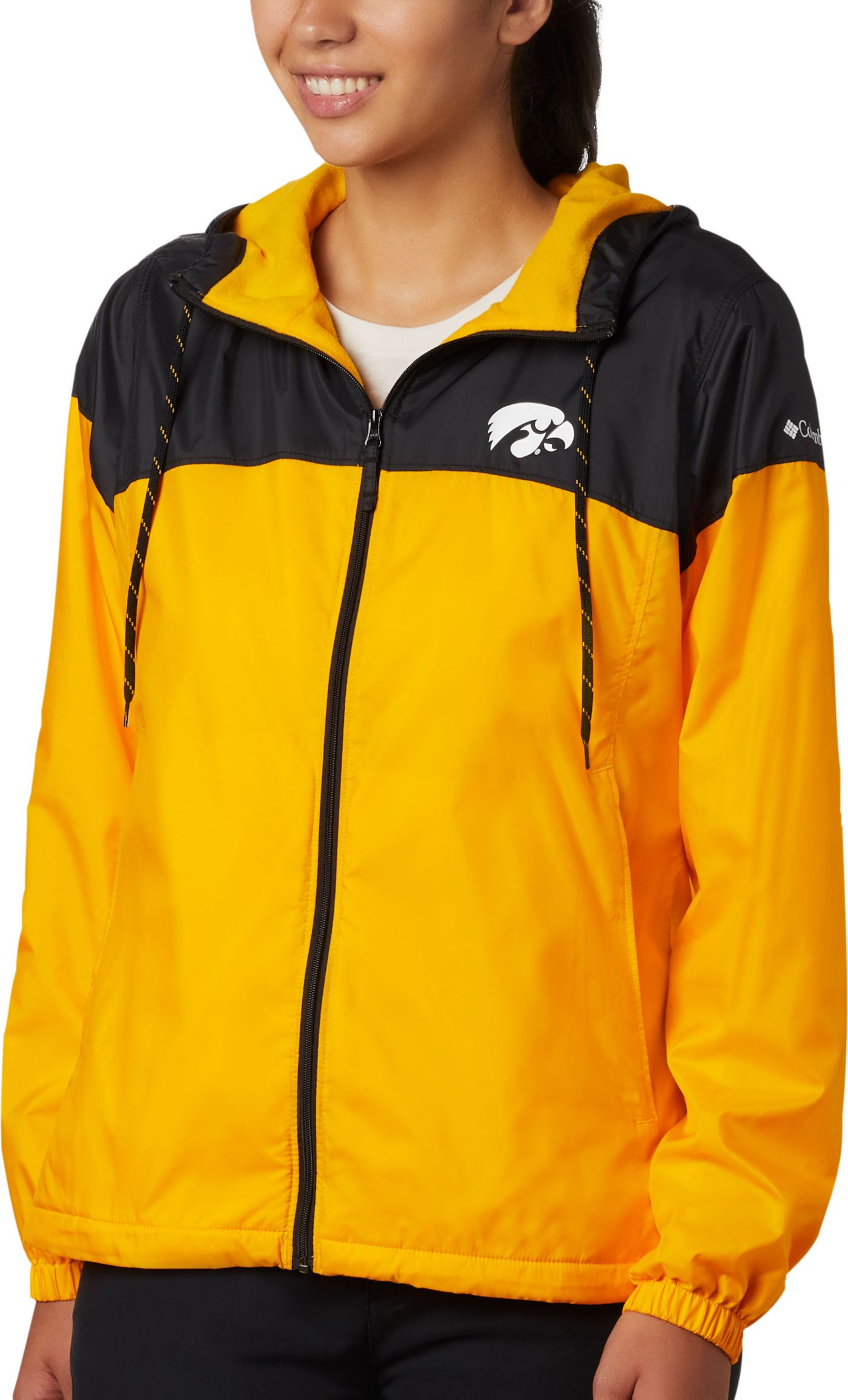 Columbia Women's Iowa Hawkeyes Black/Gold CLG Flash Forward Lined Jacket