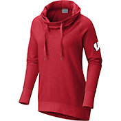 Columbia Women's Wisconsin Badgers Red Downtime Funnel Neck Pullover