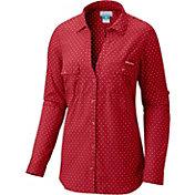 Columbia Women's Wisconsin Badgers Red/White Sun Drifter Long Sleeve Shirt