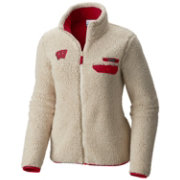 Columbia Women's Wisconsin Badgers Mountainside Full-Zip White Jacket