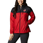 Columbia Women's Wisconsin Badgers Red/Black Flash Forward Lined Jacket