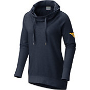 Columbia Women's West Virginia Mountaineers Blue Downtime Funnel Neck Pullover