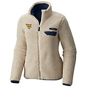 Columbia Women's West Virginia Mountaineers Mountainside Full-Zip White Jacket