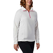 Columbia Women's Tested Tough In Pink Glacial Half Zip Pullover