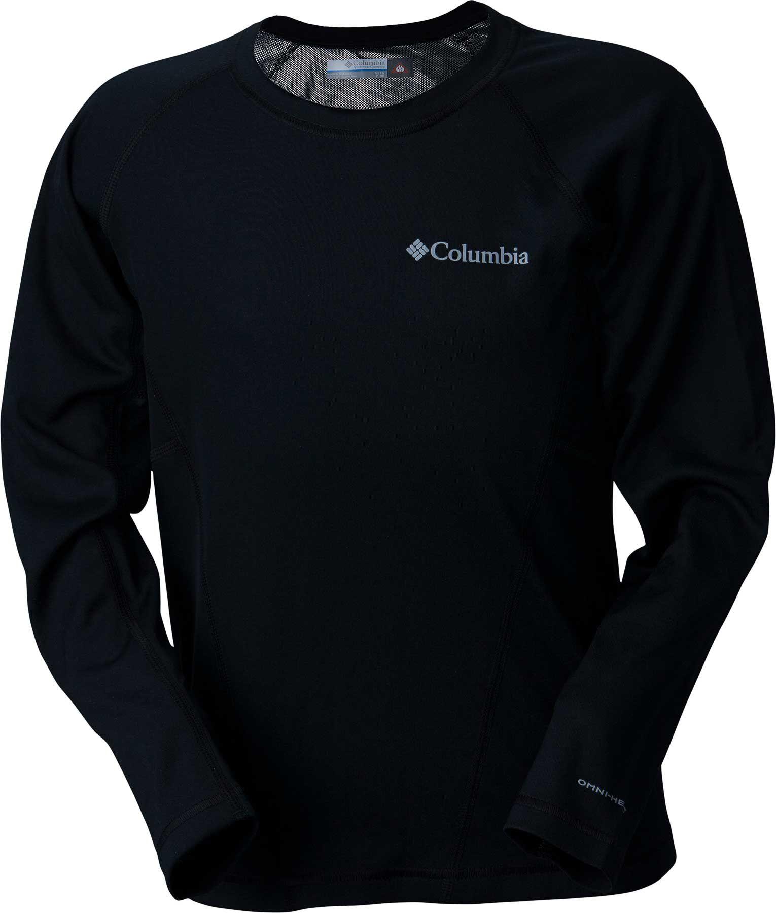 Columbia Boys' Midweight Crew 2 Base Layer Shirt, Size: Large, Black thumbnail