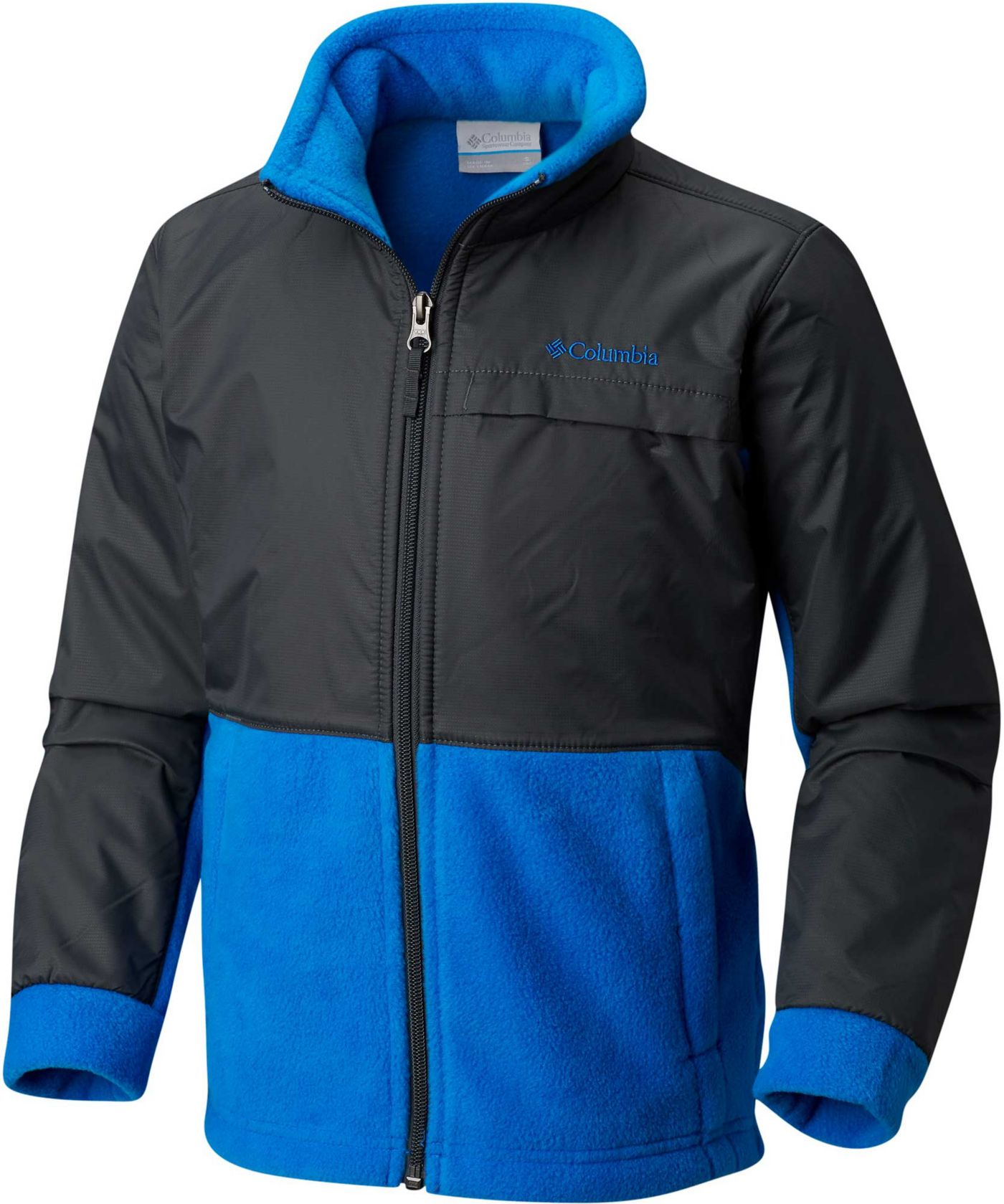 Columbia Boys' Steens Mountain Overlay Fleece Jacket