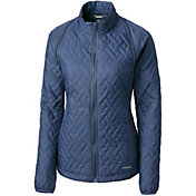 Cutter & Buck Women's Annika Propel 2-in-1 Full-Zip Quilted Golf Jacket