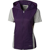 Cutter & Buck Women's Annika Hybrid Flex Short Sleeve Full-Zip Golf Top