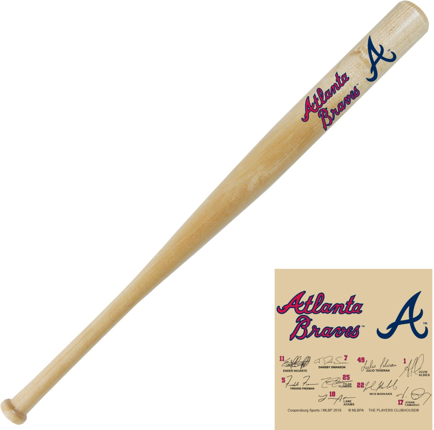 Coopersburg Sports Atlanta Braves Signature Mini Bat