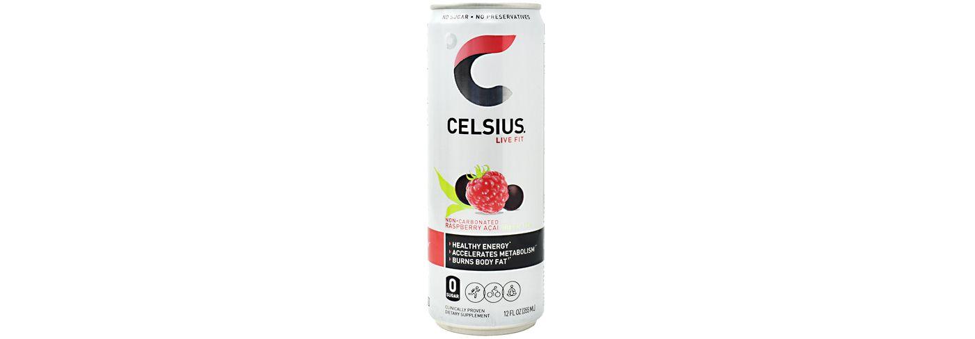 Celsius Fitness Drink Sparkling Raspberry Acai Green Tea 12-Pack