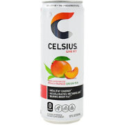 Celsius Fitness Drink Peach Mango Green Tea 4-Pack