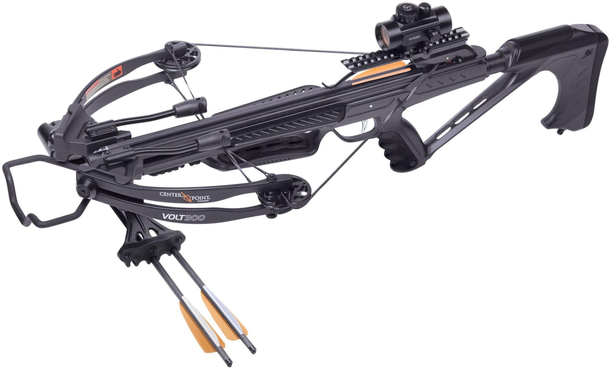 CenterPoint Volt 300 Youth Crossbow Package - 3 Dot Illuminated Sight, Blac/White/Black thumbnail