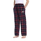 Concepts Sport Men's Atlanta Braves Plaid Flannel Pajama Pants
