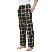 Concepts Sport Men's Milwaukee Brewers Plaid Flannel Pajama Pants