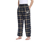 Concepts Sport Men's Milwaukee Brewers Plaid Flannel Pajama Pants