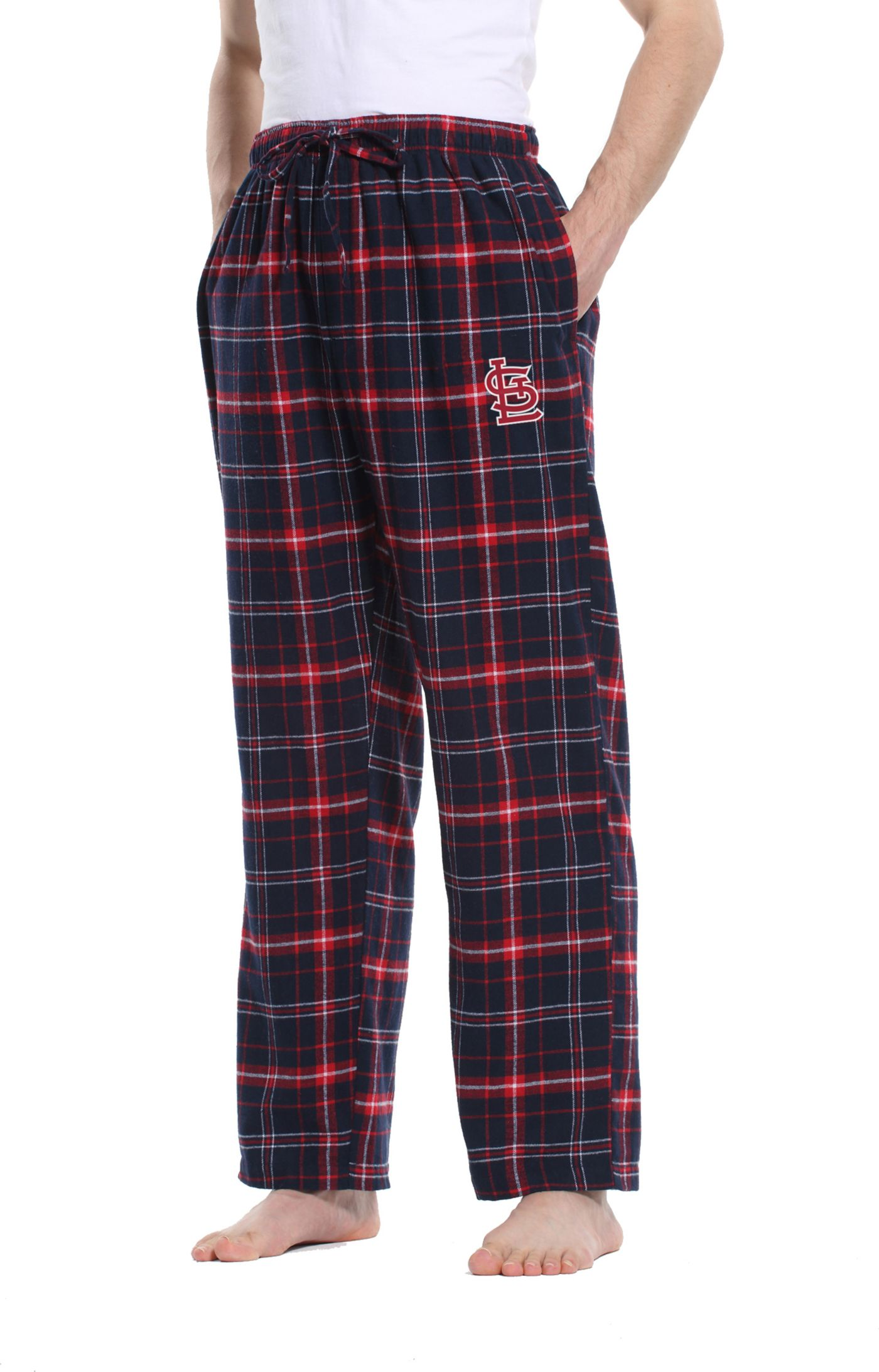 Concepts Sport Men's St. Louis Cardinals Plaid Flannel Pajama Pants