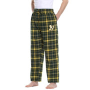 Concepts Sport Men's Oakland Athletics Plaid Flannel Pajama Pants