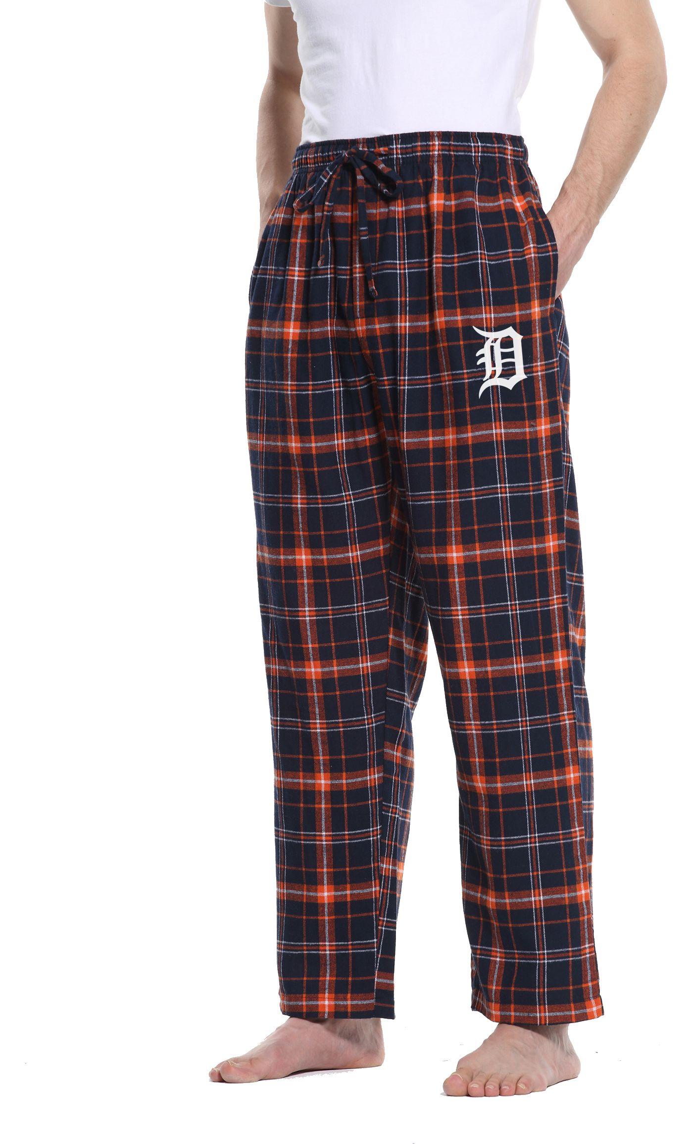 Concepts Sport Men's Detroit Tigers Plaid Flannel Pajama Pants