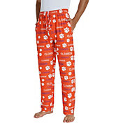 Concepts Sport Men's Clemson Tigers Orange Midfield Sleep Pants