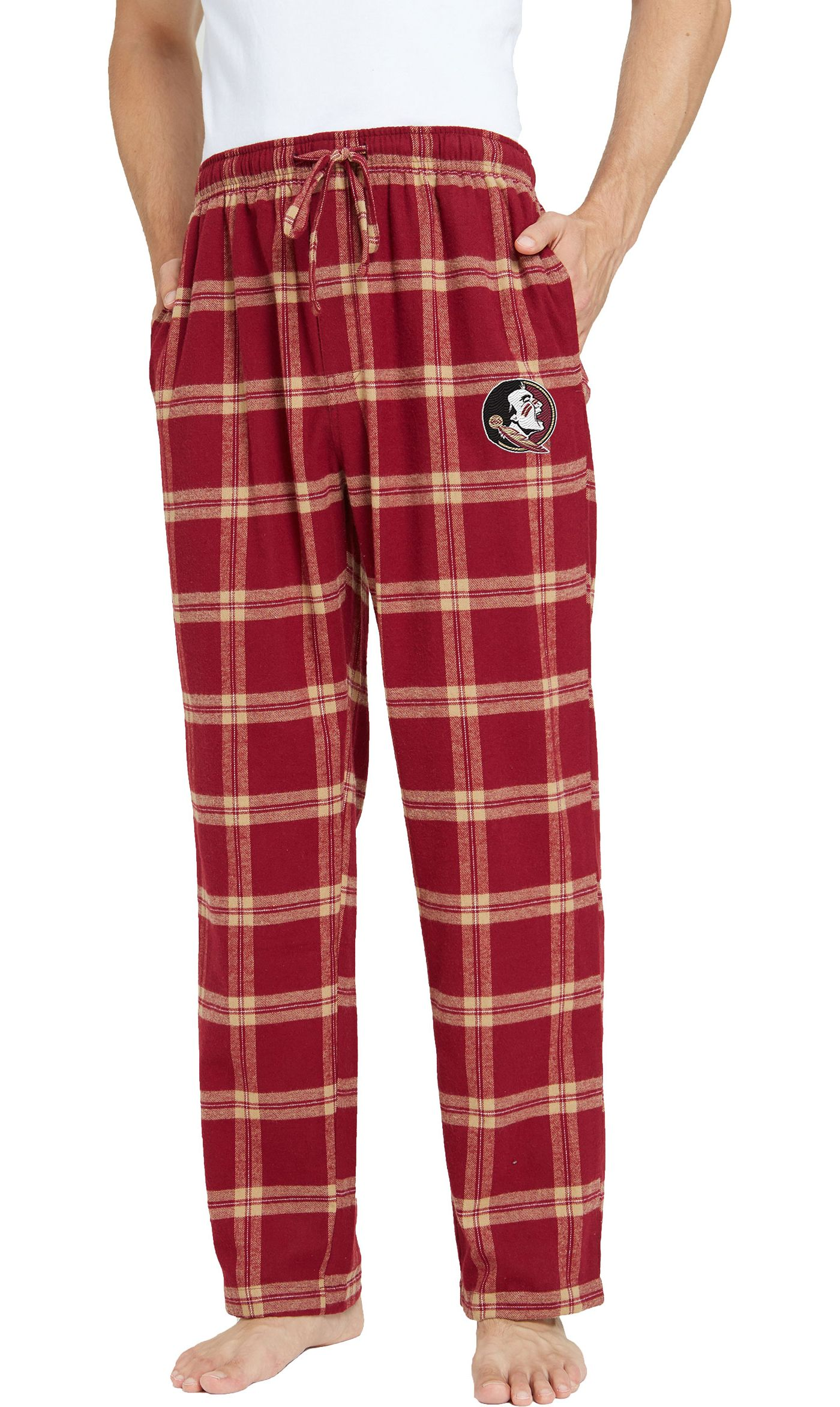 Concepts Sport Men's Florida State Seminoles Garnet/Gold Homestretch Sleep Pants