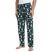 Concepts Sport Men's Michigan State Spartans Green Midfield Sleep Pants