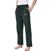 Concepts Sport Men's Miami Hurricanes Black/Green Homestretch Sleep Pants