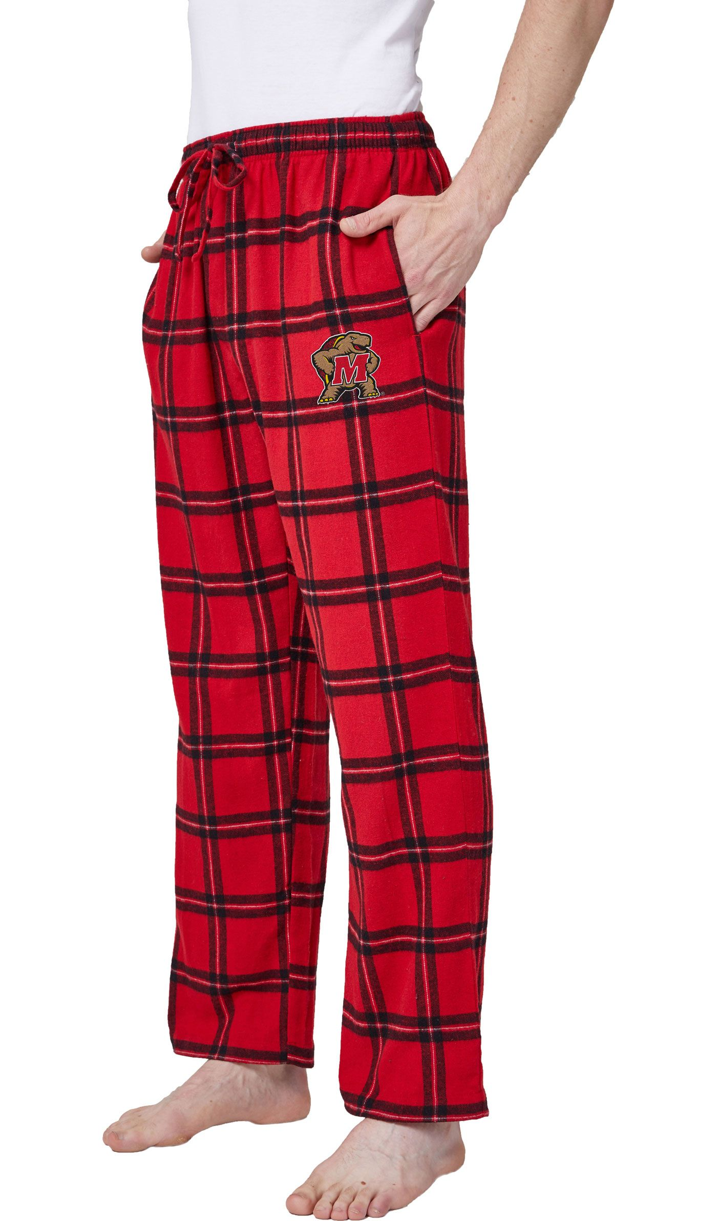 Concepts Sport Men's Maryland Terrapins Red/Black Homestretch Sleep Pants