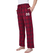Concepts Sport Men's Mississippi State Bulldogs Black/Maroon Homestretch Sleep Pants