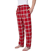 Concepts Sport Men's Indiana Hoosiers Crimson/Cream Homestretch Sleep Pants