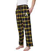 Concepts Sport Men's Appalachian State Mountaineers Black/Gold Homestretch Sleep Pants