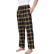 Concepts Sport Men's Purdue Boilermakers Black/Old Gold Homestretch Sleep Pants