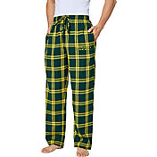 Concepts Sport Men's Oregon Ducks Yellow/Green Homestretch Sleep Pants