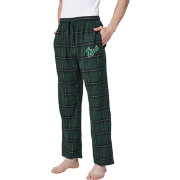 Concepts Sport Men's South Florida Bulls Black/Green Homestretch Sleep Pants