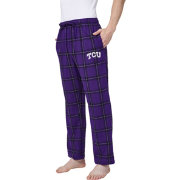 Concepts Sport Men's TCU Horned Frogs Black/Purple Homestretch Sleep Pants