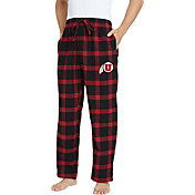 Concepts Sport Men's Utah Utes Black/Crimson Homestretch Sleep Pants