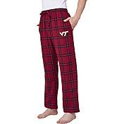 Concepts Sport Men's Virginia Tech Hokies Black/Maroon Homestretch Sleep Pants