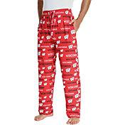Concepts Sport Men's Wisconsin Badgers Red Midfield Sleep Pants