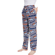 Concepts Sport Men's Denver Broncos Achieve Grey Fleece Pants