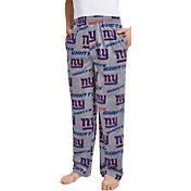 Concepts Sport Men's New York Giants Achieve Grey Fleece Pants