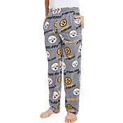 Concepts Sport Men's Pittsburgh Steelers Achieve Grey Fleece Pants