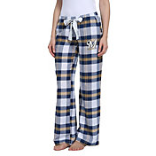 Concepts Sport Women's Milwaukee Brewers Plaid Flannel Pajama Pants