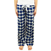 Concepts Sport Women's Los Angeles Dodgers Plaid Flannel Pajama Pants