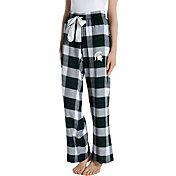 Concepts Sport Women's Michigan State Spartans Black/Green Homestretch Sleep Pants