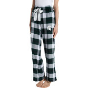 Concepts Sport Women's Michigan State Spartans Black/Green Homestretch Sleep Pants