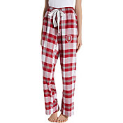 Concepts Sport Women's Indiana Hoosiers Crimson/Cream Homestretch Sleep Pants